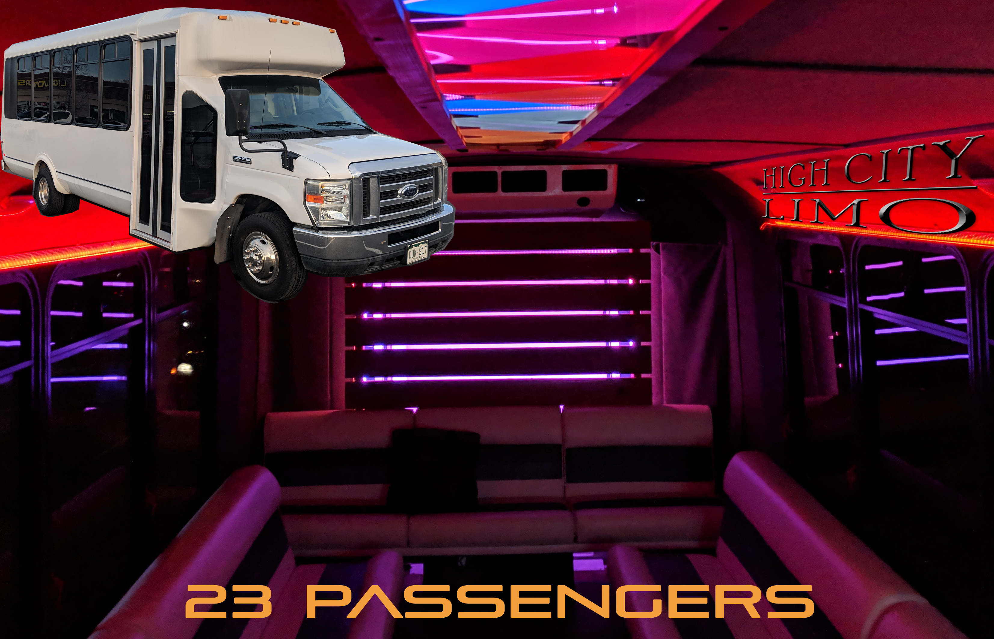 Prom Party Bus Rental | Luxury Party Bus with Bluetooth ...