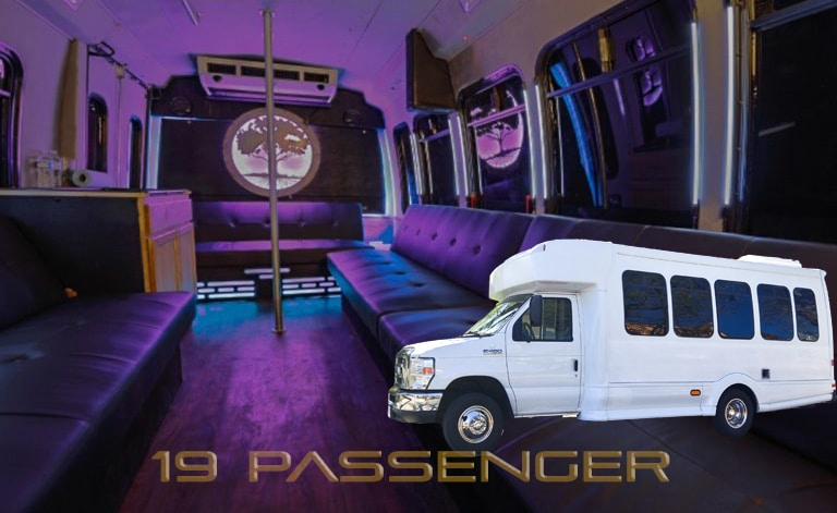 Red Rocks Party bus for up to 19 people