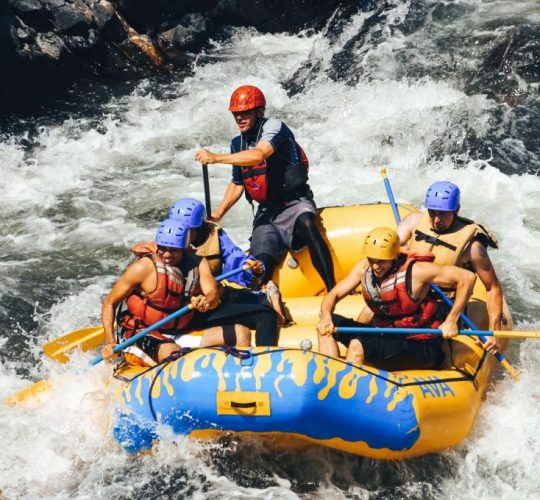 WHITE WATER RAFTING ON CLEAR CREEK