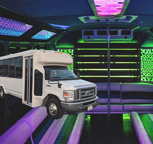 luxury prom limo bus